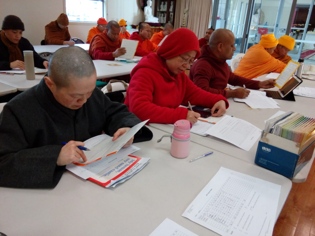 Monks and nuns studying English